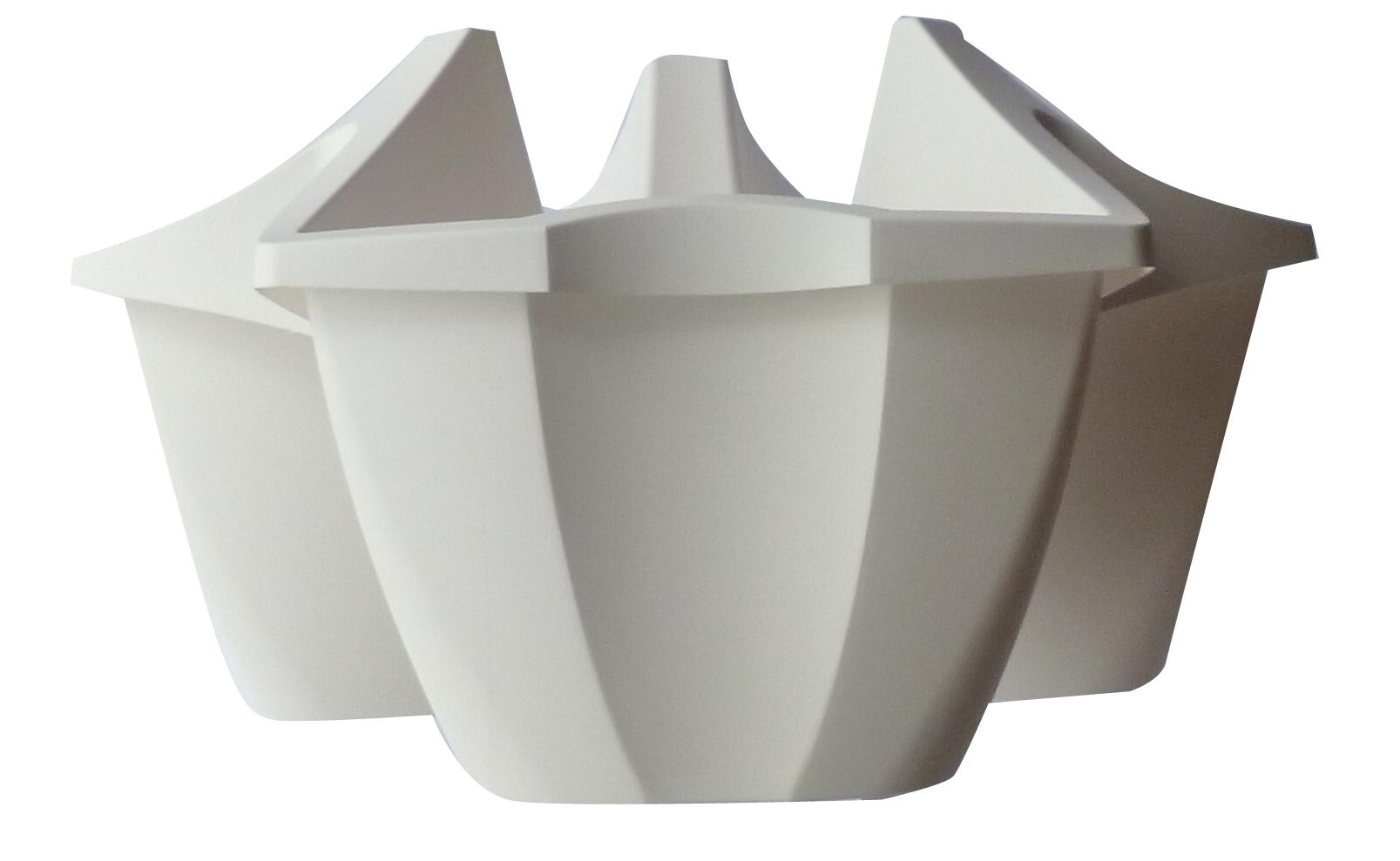 """květináč """"CROWN"""", DCRO 480, bílý, průměr 480 mm"""
