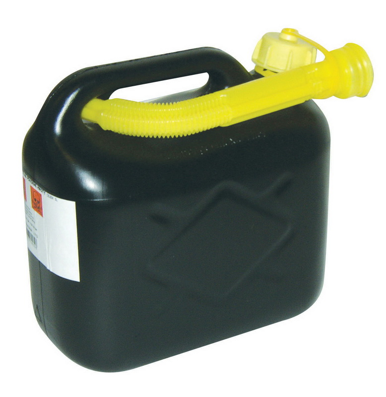 Kanystr plastový na těkavé látky 10 l černý