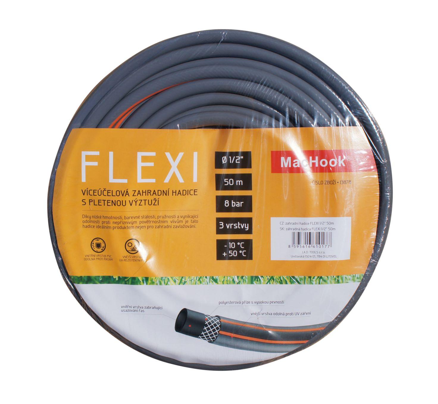 """J.A.D. Tools zahradní hadice FLEXI 5/8"""" 20m šedo-oranžová"""