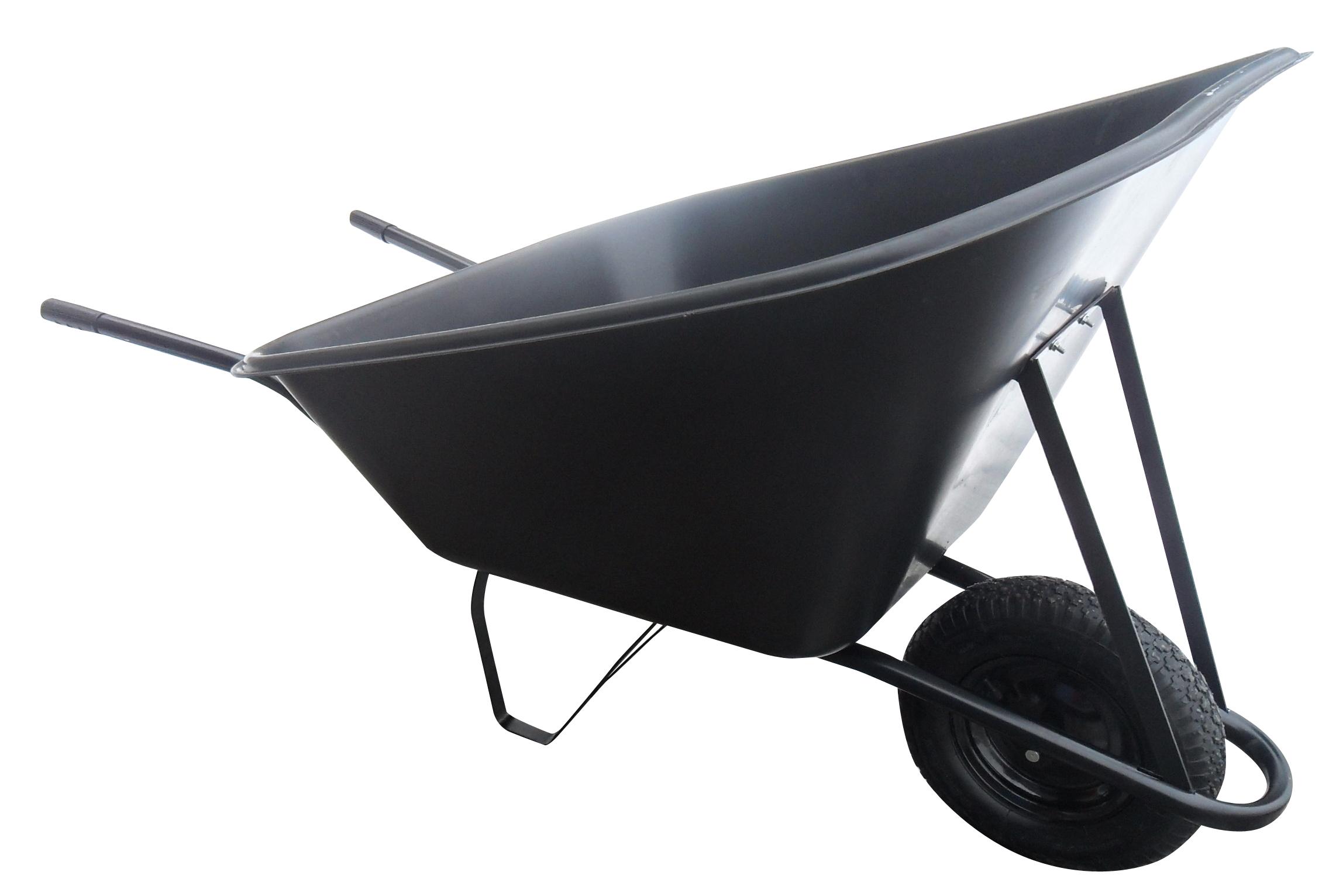 J.A.D Tools Kolečko hospodářské 210 l, kolo nafukovací - plastová korba, nosnost 100 kg
