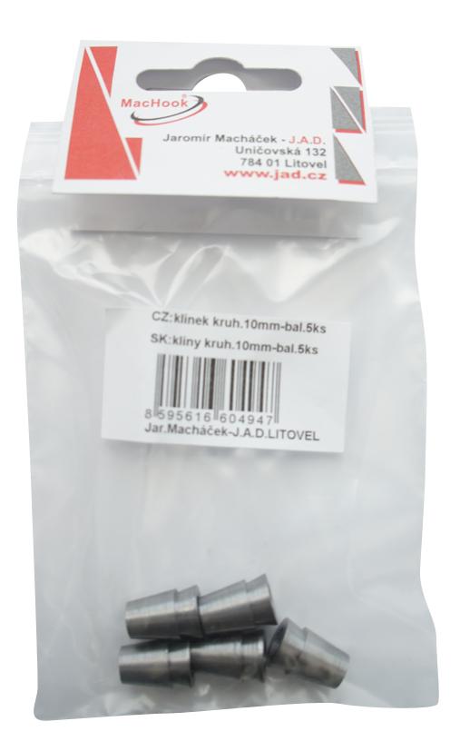 J.A.D. Tools klínek kuhový, průměr 10 mm, balení 5ks