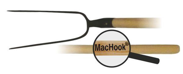 MacHook vidle 2hr. s násadou 130 cm černé