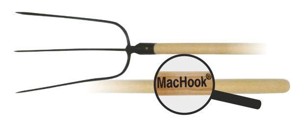 MacHook vidle 3hr. s násadou 130 cm černé