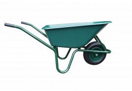 kolečko LIVEX 100 l, kolo nafukovací, rozložené - plastová korba zelená, nosnost 100 kg