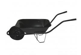 kolečko stavební 60 l, kolo plná pryž, pevná osa – korba bodovaná, nosnost 100 kg