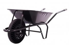 kolečko stavební 60 l, kolo plná pryž, korba tažená, nosnost 100 kg