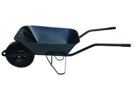 kolečko stavební 60 l, kolo plná pryž - korba bodovaná, nosnost 100 kg