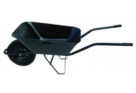 kolečko stavební 80 l, kolo plná pryž - korba černá tažená, nosnost 100 kg