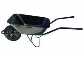 kolečko stavební 80 l, kolo nafukovací - korba černá tažená, nosnost 100 kg