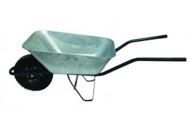 kolečko stavební 80 l, kolo plná pryž - korba pozinkovaná tažená, nosnost 100 kg