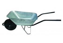 kolečko stavební 80 l, kolo nafukovací - korba pozinkovaná tažená, nosnost 100 kg