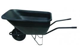 kolečko hospodářské 180 l, kolo nafukovací - plastová korba červená, nosnost 100 kg