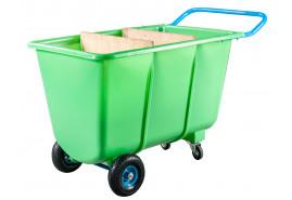 čtyřkol.vozík 400 L- plast. korba