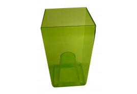 obal na květináč hranatý, DUW 120P, zelený, rozměr 120x120x200 mm