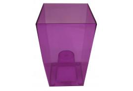 obal na květináč hranatý, DUW 120P, fialový, rozměr 120x120x200 mm