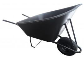 kolečko hospodářské 210 l, kolo nafukovací - plastová korba, nosnost 100 kg