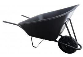 kolečko hospodářské 210 l, kolo plná pryž - plastová korba, nosnost 100 kg