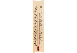 teploměr vnitřní dřevěný 185x40 mm
