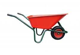 kolečko LIVEX 100 l, kolo nafukovací, rozložené - plastová korba červená, nosnost 100 kg