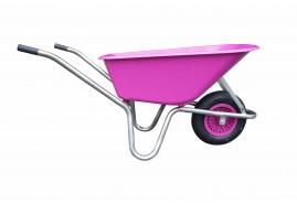 koločko LIVEX 100 l, pzn rám, kolo nafukovací, rozložené – plastová korba fialová, nosnost 100 kg