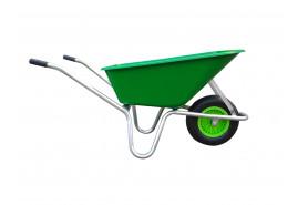 koločko LIVEX 100 l, pzn rám, kolo nafukovací, rozložené – plastová korba světle zelená, nosnost 100 kg