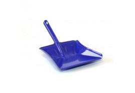 lopatka na smetí barevný lak modrá