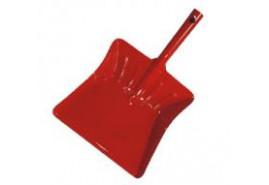 lopatka na smetí barevný lak červená