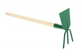 okopávačka s ostřím a s 3 hroty s násadou 50 cm